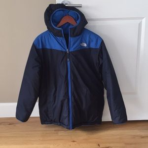 Boys North Face double sided jacket with hood